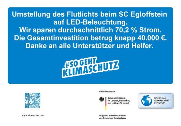 Neue LED-Flutlichtanlage beim SCE